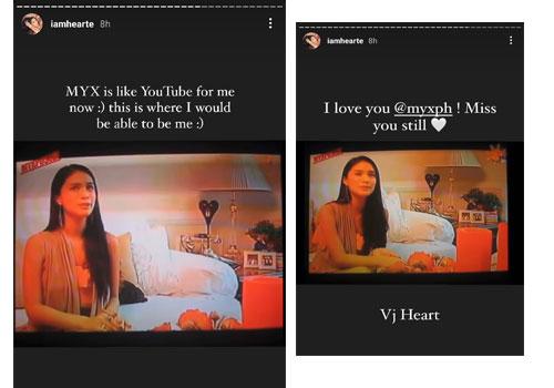 Instagram Story: Heart Evangelista as MYX VJ