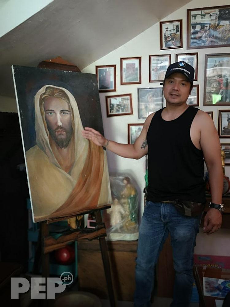 Leandro Baldemor San Miguel Arkanghel painting
