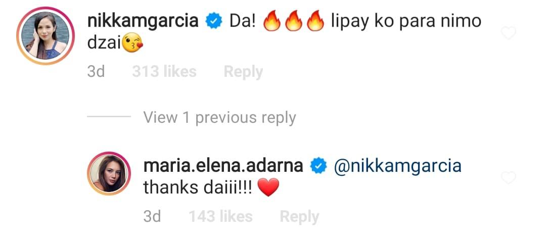Nikka Garcia supports Ellen-Derek relationship