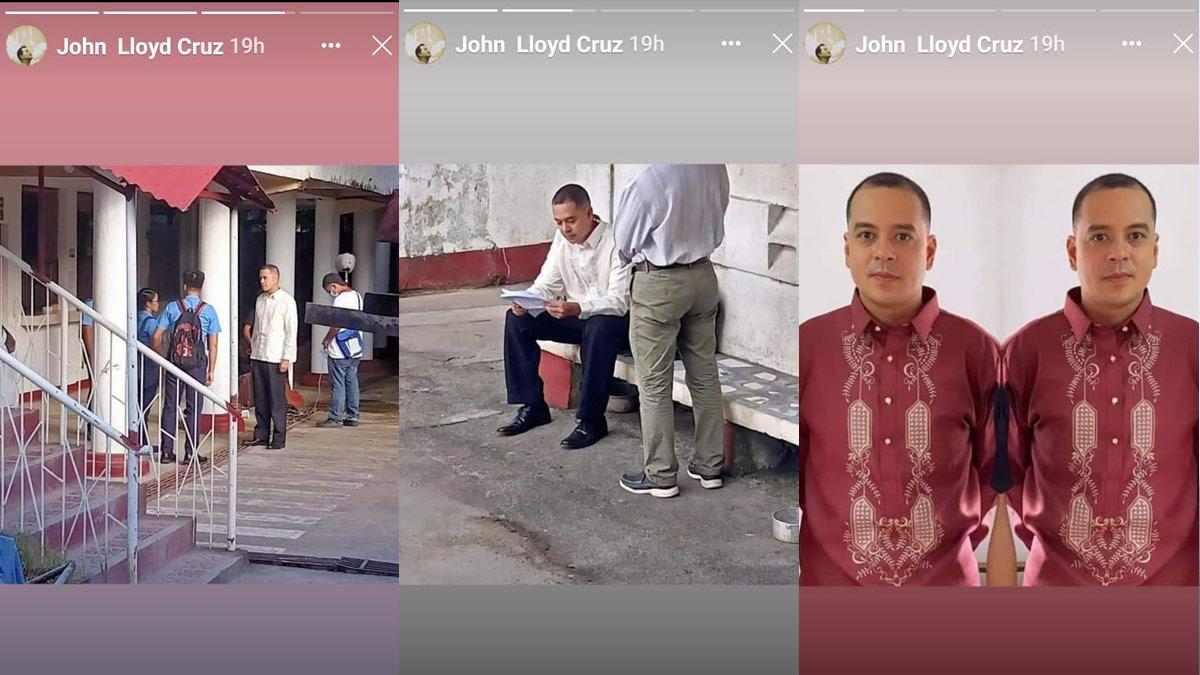 John Lloyd Cruz in Servando Magdamag taping