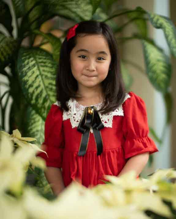scarlet snow belo at 5 years old