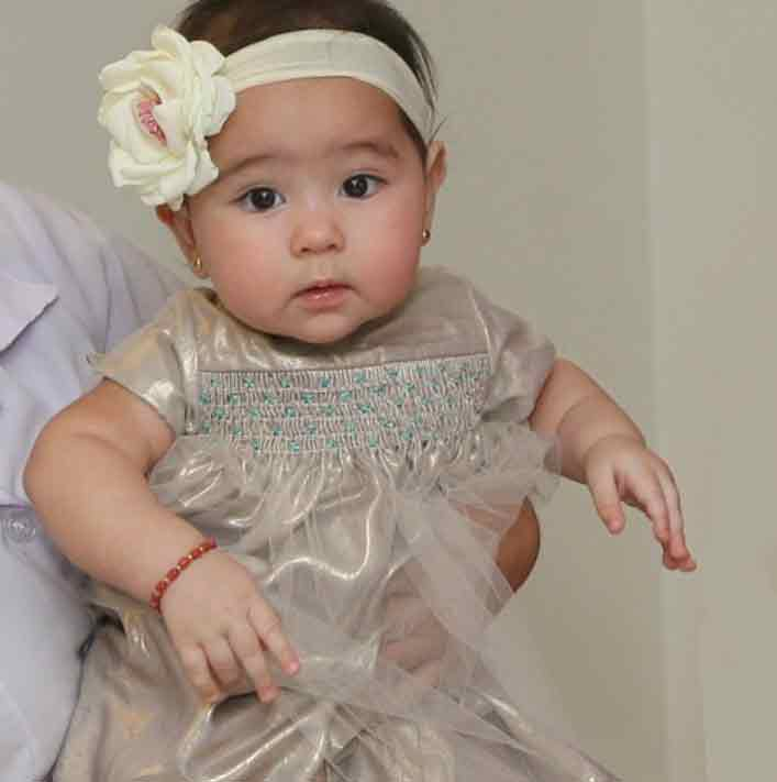 baby scarlet belo at five months old