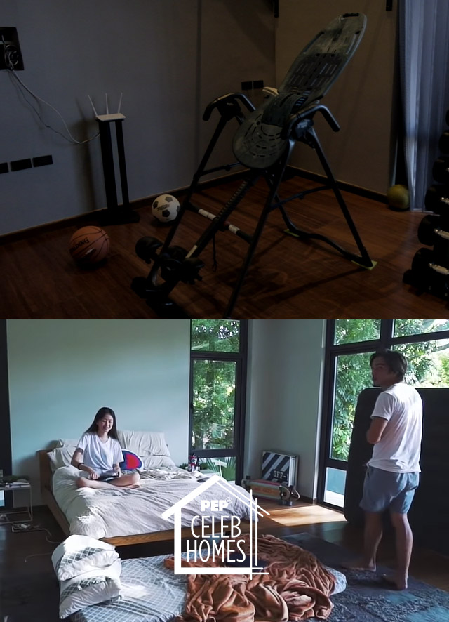 Derek Ramsay House: Gym and Guest room