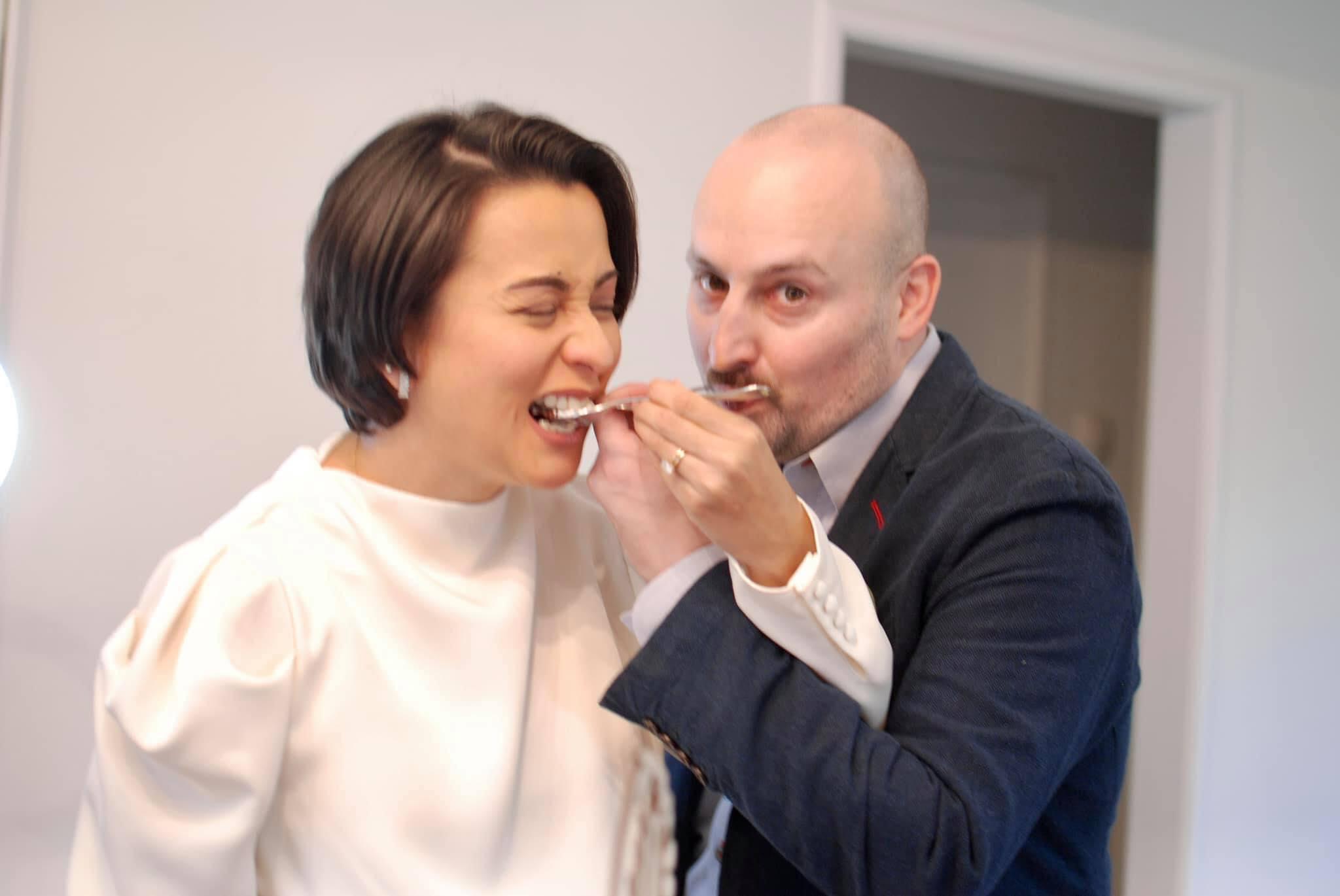 Newly-weds Beth Tamayo, Adam Hutchinson