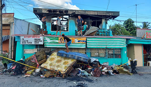 Paginado family's old house affected by Iloilo fire