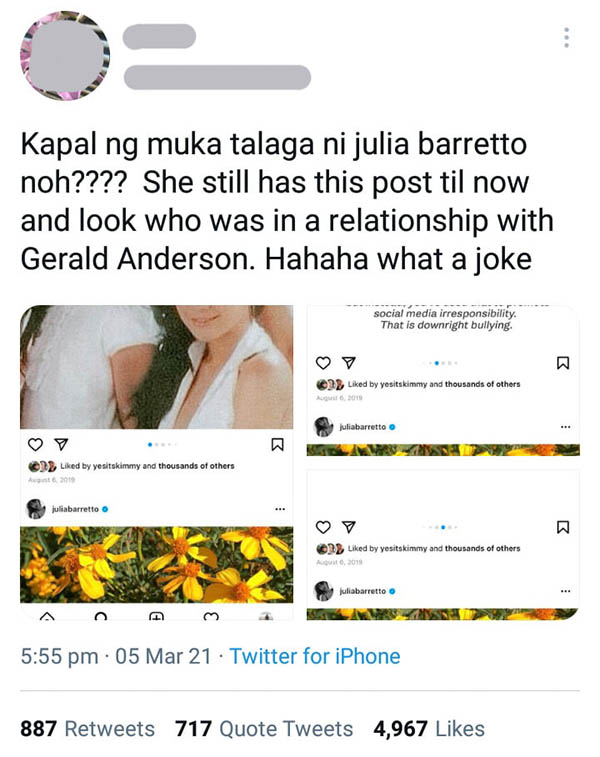 Twitter Post: Throwback post of Julia against Bea, netizens call Julia