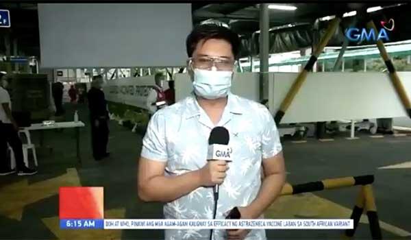 Unang Hirit field reporter Bam Alegre