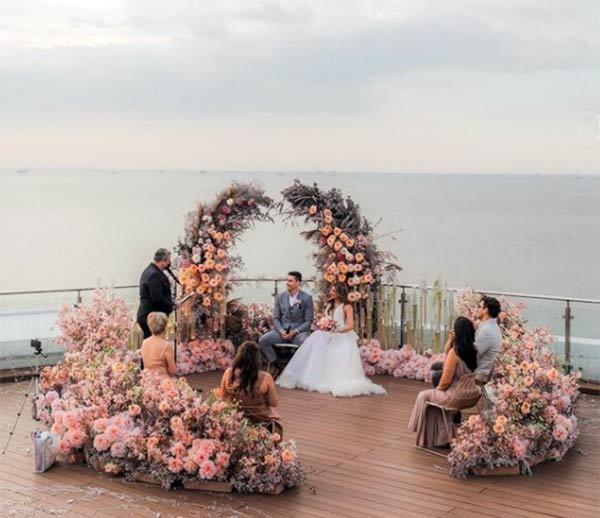 Sam Pinto, Anthony Semerad sunset wedding