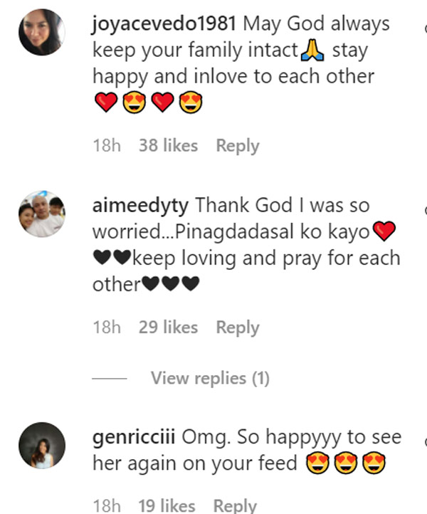 Instagram Comment: netizens happy for aljur and kylie