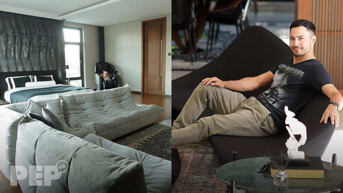 Derek Ramsay home, sofa