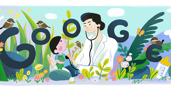 Google Doodle of Fe del Mundo birthday