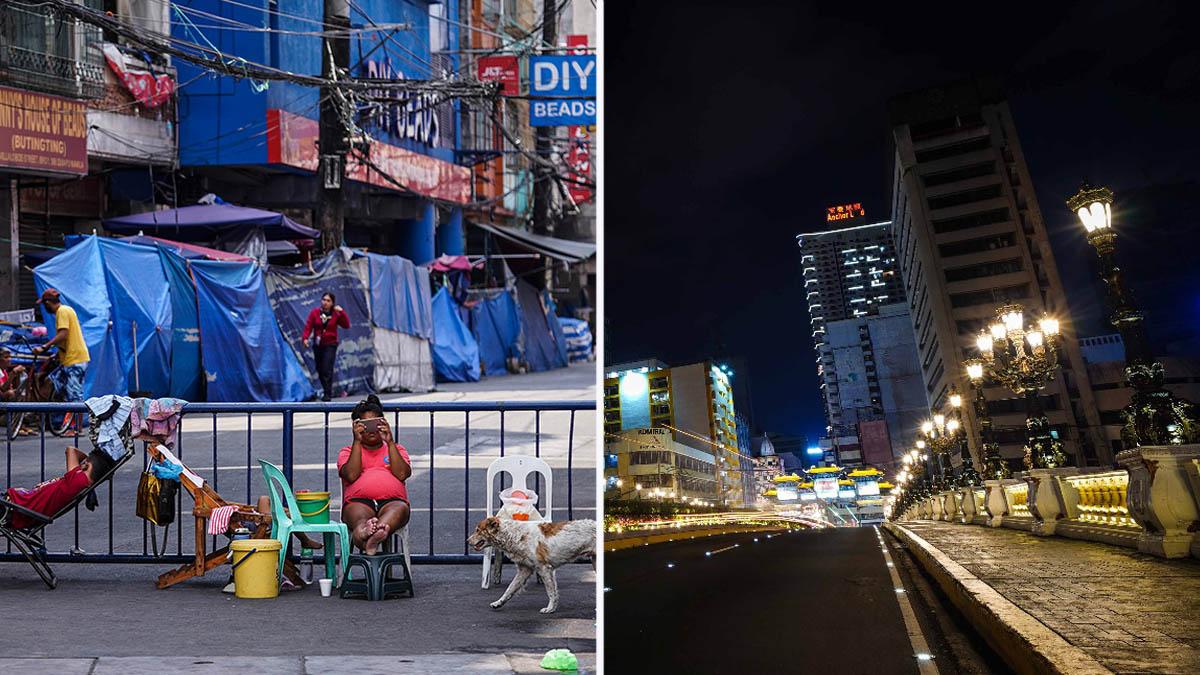 Manila lockdown, San Juan, Caloocan City curfew, COVID-19 cases