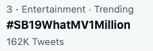 SB19 What MV trends on Twitter