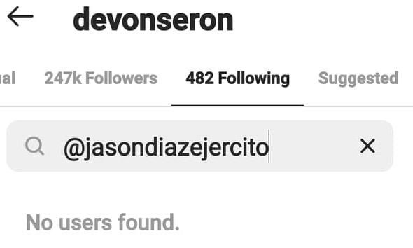 Devon Seron unfollows Kiko Estrada