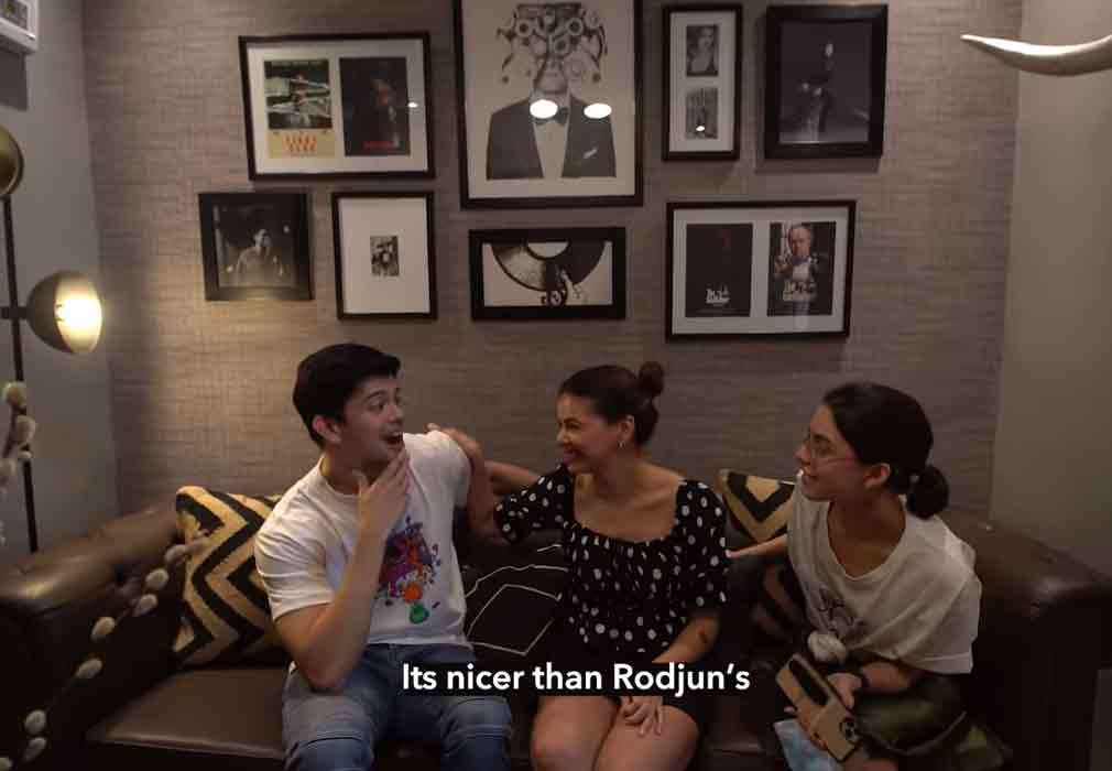 Rayver Cruz with Janine and Maxine in house tour
