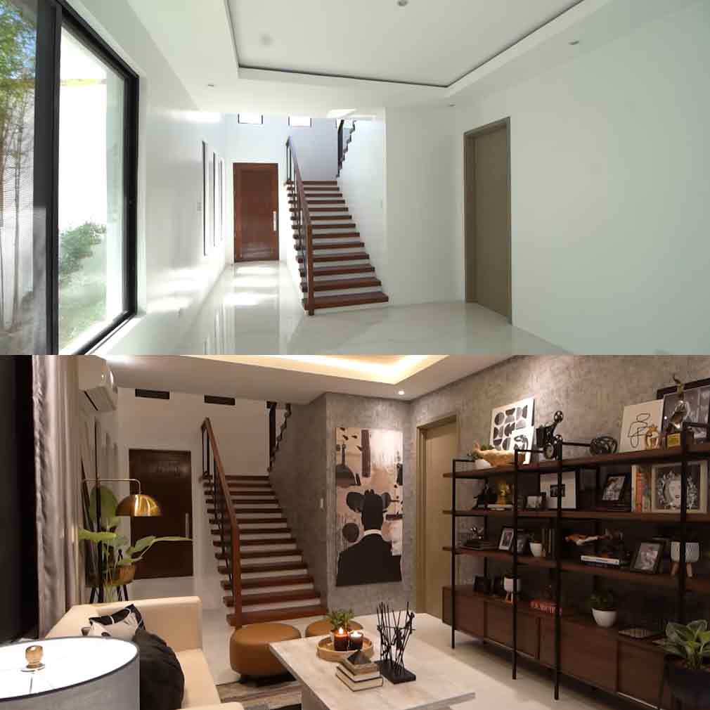 Rayver Cruz home before and after