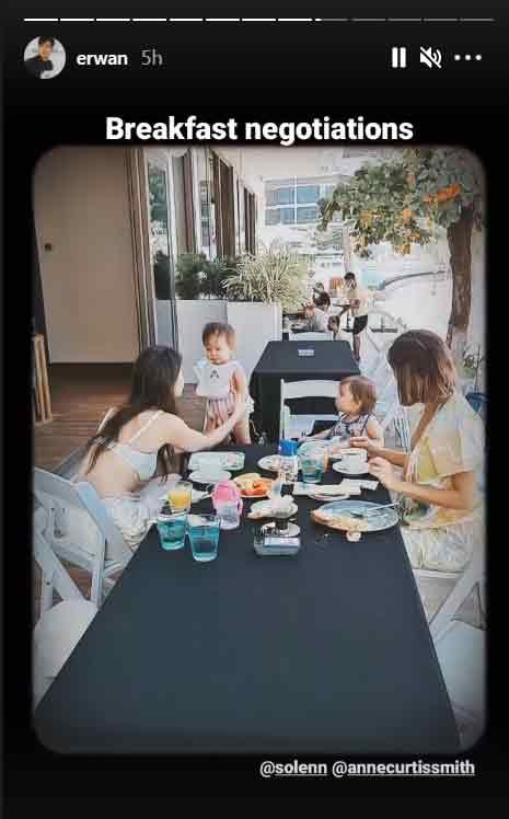Erwan Heussaff IG Story: Anne Curtis with Daughter Dahlia, Solenn Heussaff with Thylane in Boracay