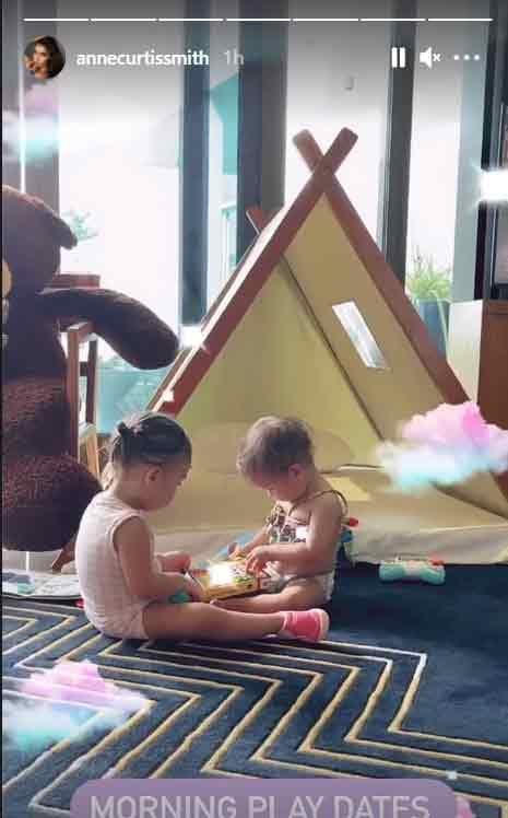 Anne Curtis IG Story: cousins thylane, dahlia playing