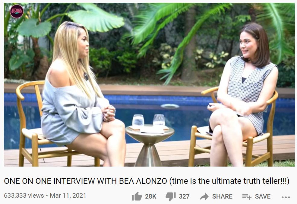 Ethel Booba, Bea Alonzo vlog interview