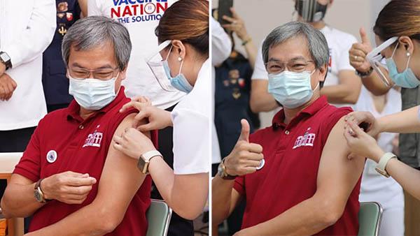 Dr. Gerardo Legaspi vaccinated
