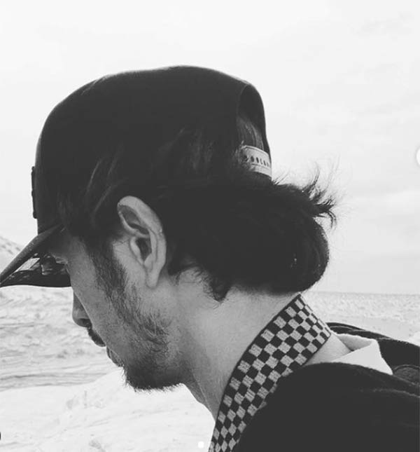 Maris Racal IG Post: Black and White photo of musician Rico Blanco