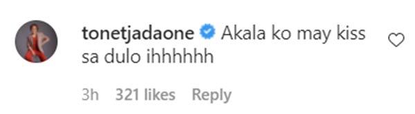 IG Comment: Tonet Jadaone teases Maris