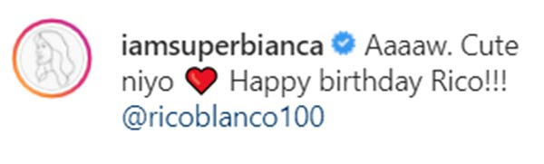 IG comment: Bianca Gonzales greets Rico Blanco