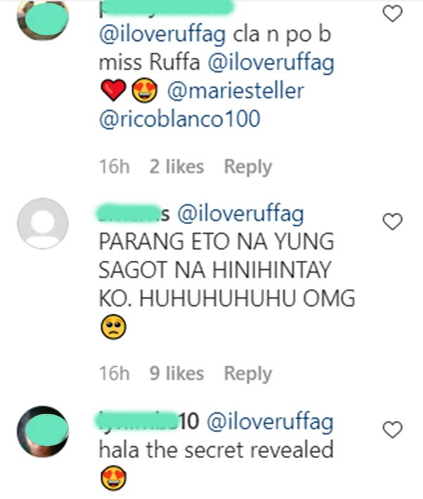 IG comment: netizens ask ruffa for confirmation