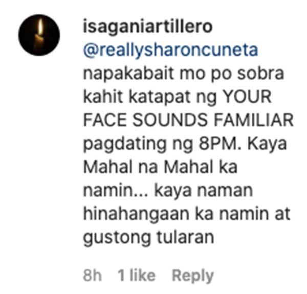IG comment: fans admire Sharon and Pops friendship