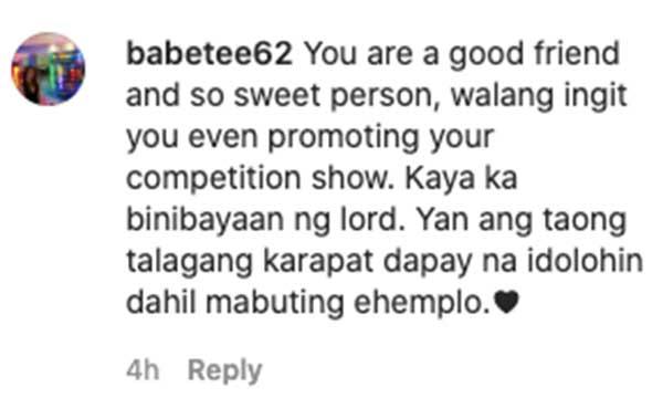 IG comment: fans admire Sharon simple gesture
