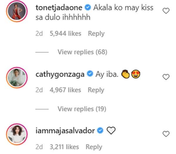 IG comment: Tonet Jadaone, Alex Gonzaga, Maja Salvador tease Maris
