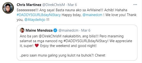 Chris Martinez tweets about ArMaine
