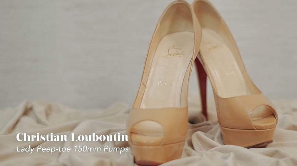 Kathryn Bernardo design shoes: Christian Louboutin Lady Peep-toe pumps
