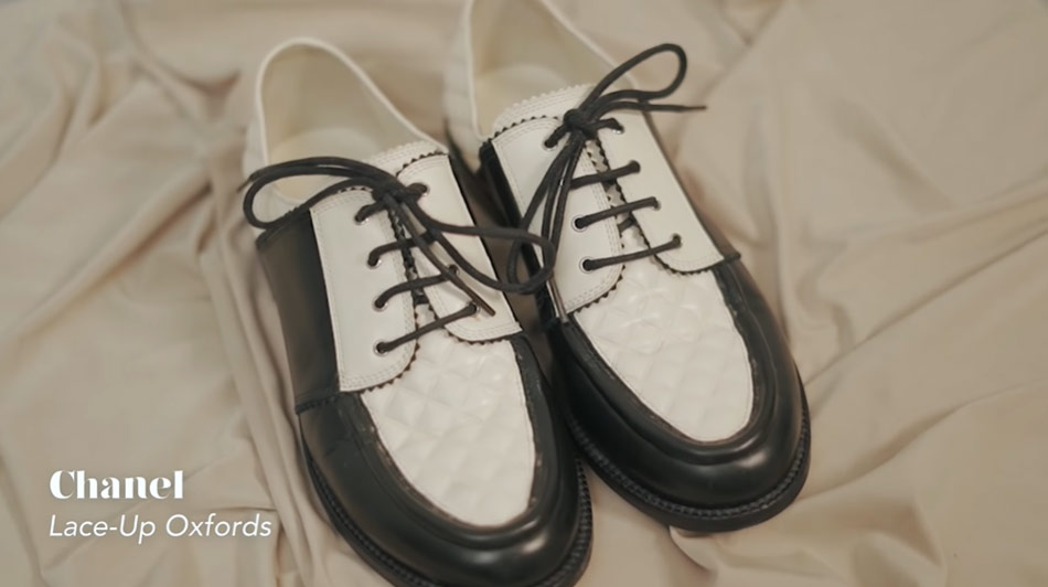 Kathryn Bernardo design shoes: Chanel Lace-Up Oxfords