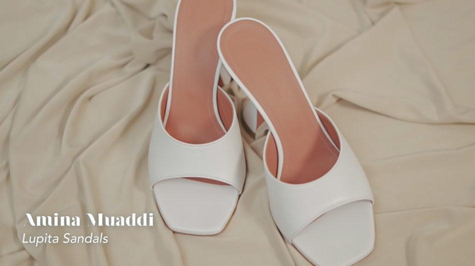 Kathryn Bernardo design shoes: Amina Muaddi Lupita sandals