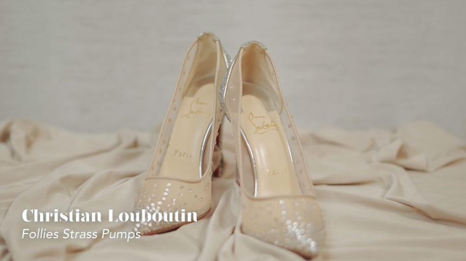 Kathryn Bernardo design shoes: Christian Louboutin Follies Strass pumps