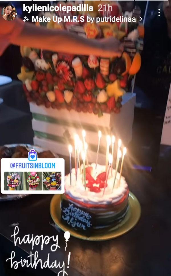 IG Story: Kylie Padilla posts Aljur birthday cake