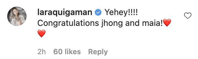 Precious Lara Quigaman congratulates Jhong Hilario