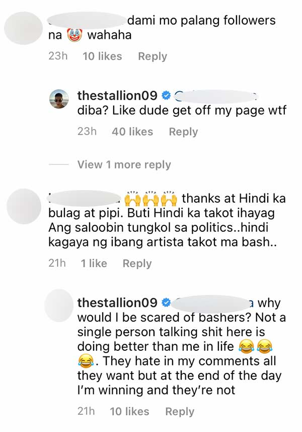 IG Comment: Netizen tells Albie his page is infested with DDS trolls, Albie agrees; wants them to go off his IG
