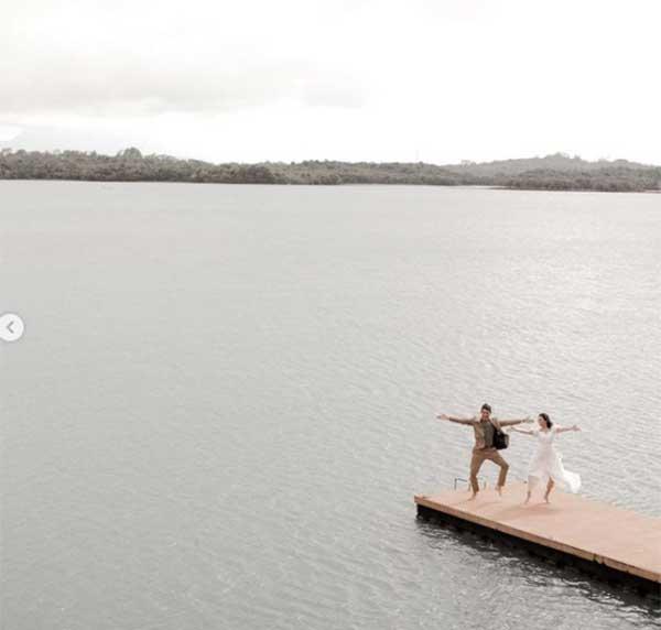 Post Wedding Photo: Sarah Geronimo and Matteo Guidicelli dancing Tala