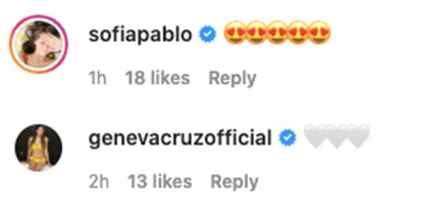 IG comment: Sofia Andres, Geneva Cruz replies to Sarah-Matteo post wedding pictorial