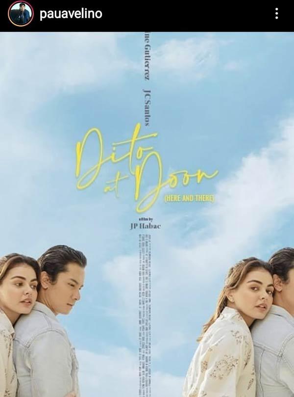 IG Photo: Paulo Avelino promotes co-produced film Dito at Doon