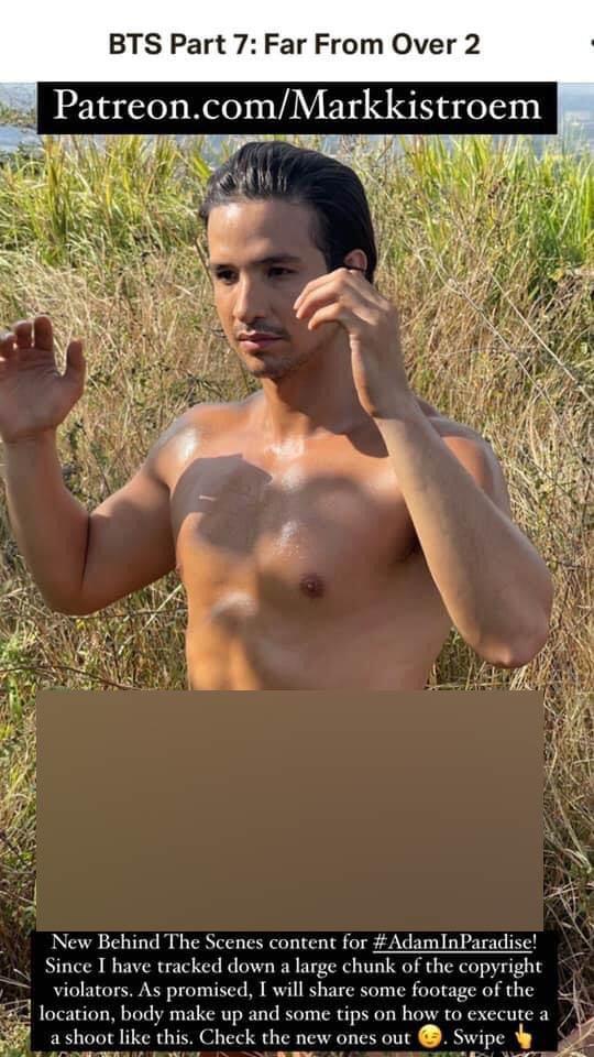 IG Photo: markki stroem poses for Adam in Paradise