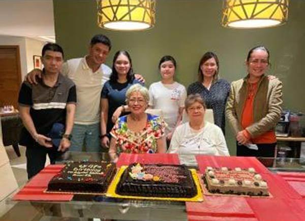 Arielle Agasang at Glydel's birthday celebration