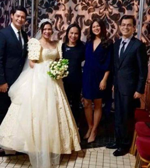 Arielle Agasang at Glydel Mercado wedding
