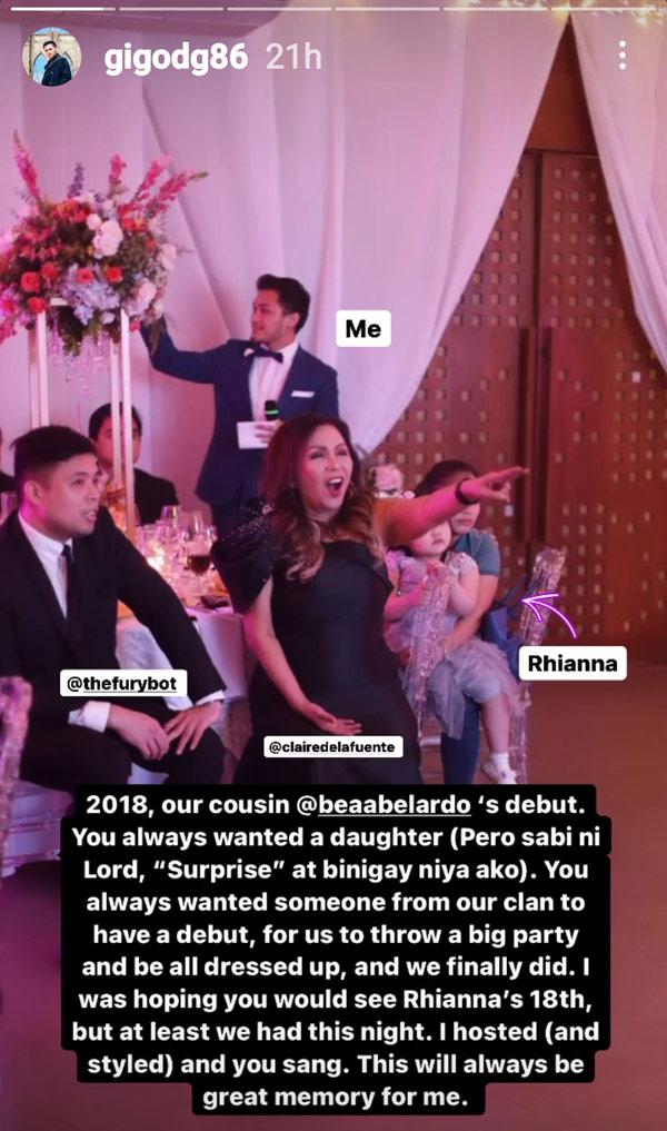 IG Stories: Gigo de Guzman posts throwback photo with mother Claire