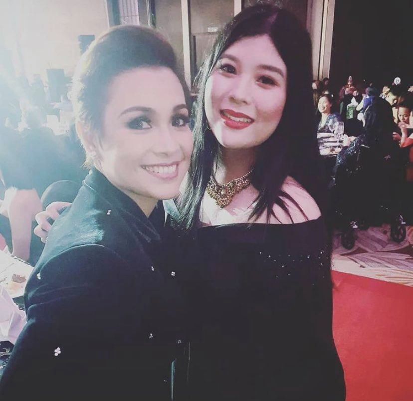 Gabri Panlilio with Lea Salonga