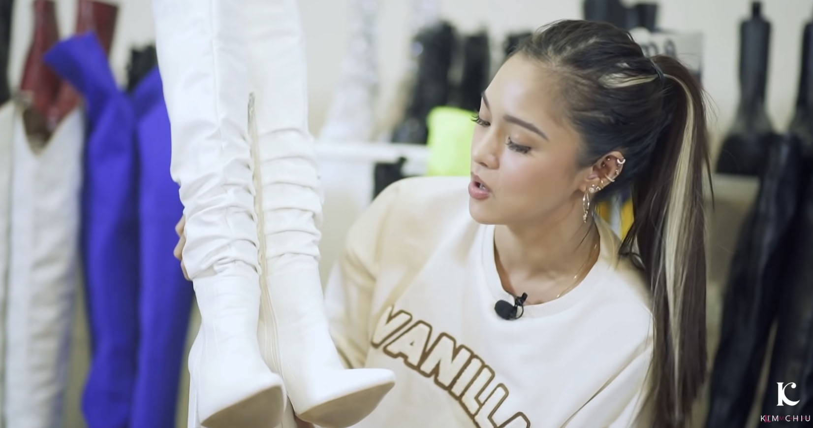 Youtube Vlog Screengrab: Kim Chiu white boots