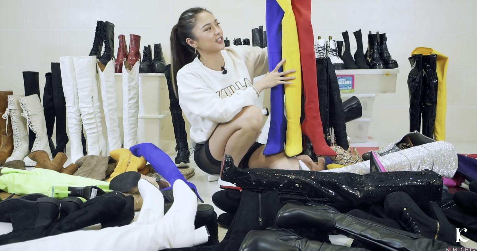 Youtube Vlog Screengrab: Kim Chiu Naked Wolfe boots