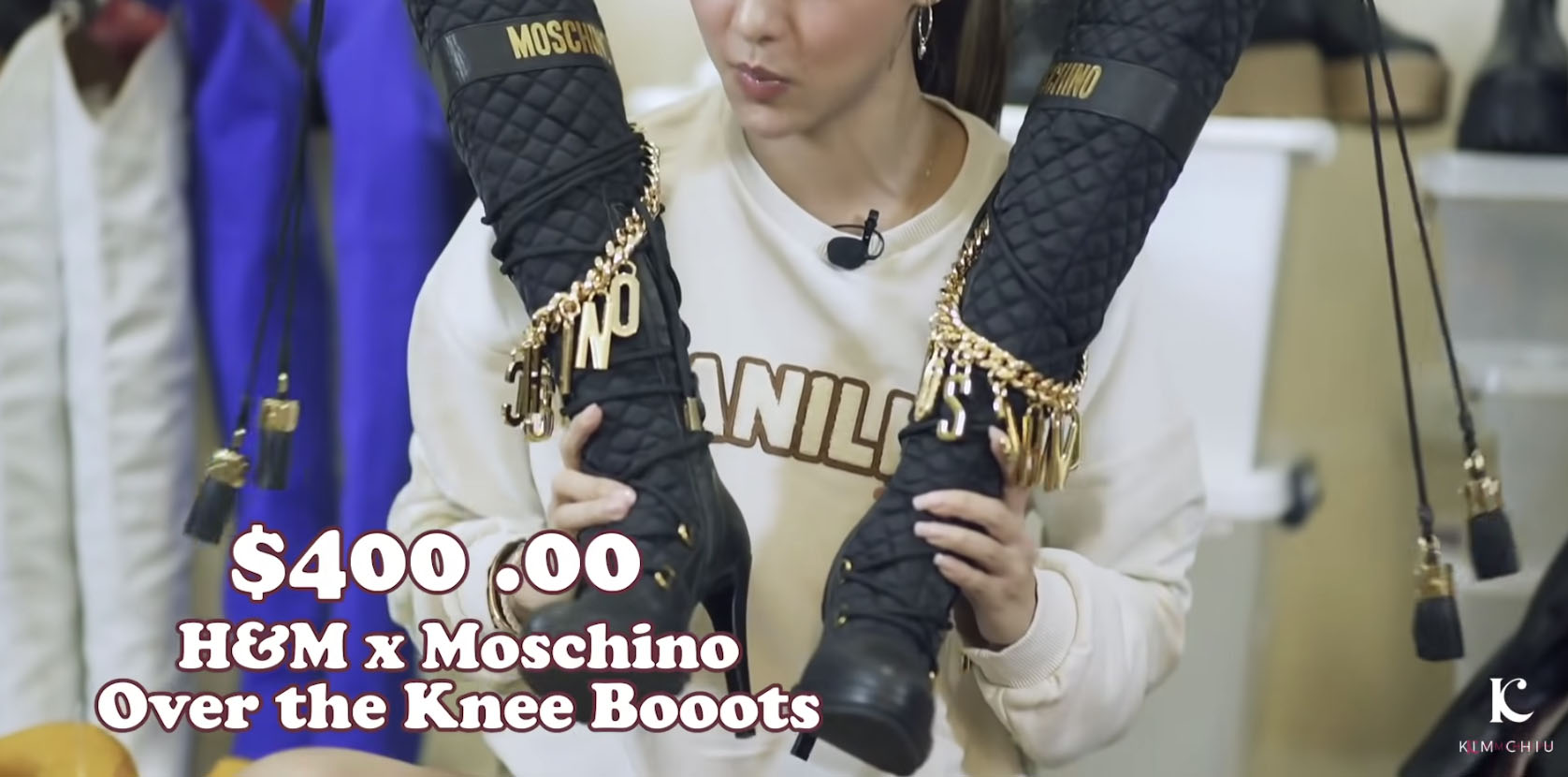 Youtube Vlog Screengrab: Kim Chiu H&M x Moschino's collection